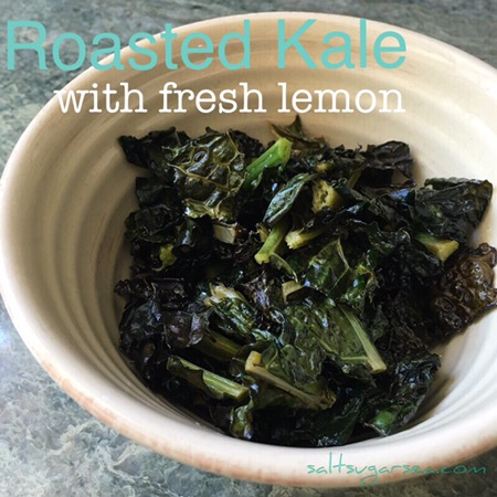 Quick and easy citrus roasted kale with sea salt and Avocado oil