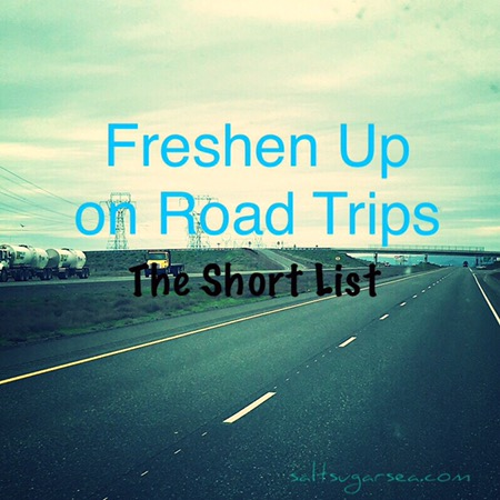 Tools to freshen up on road trips