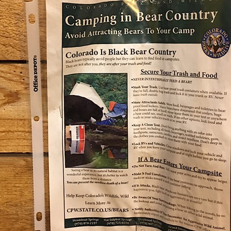 KOA camping big in bear country info