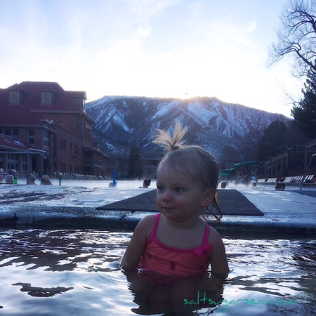 Traveling toddler Glenwood hot springs