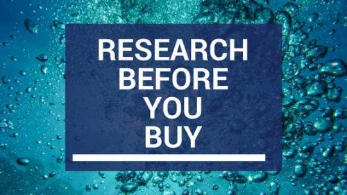 research before you buy, a helpful tip for a successful aquarium