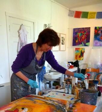 Susan Cornelis , Four Hands Painting Collaboration