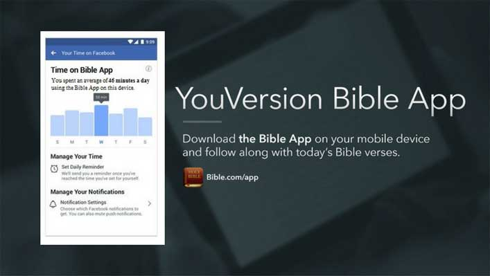 Bible App adds tools to limit time users spent on app