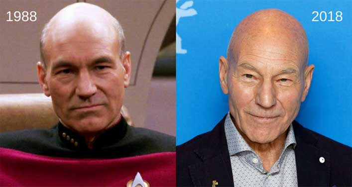 Patrick Stewart announces the secret of unchanging looks
