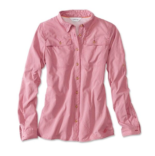 women's long sleeve fishing shirt raspberry