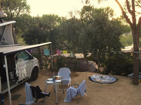 Tag 29 bis 34: Camping Porto Sosàlinos, Orosei/Sardinien, km 4.700