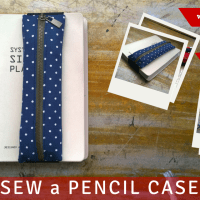 DIY : Sew a Pencil Case with an Elastic Band Holder