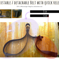 DIY Messenger Bag : Adjustable Straps