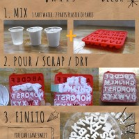 DIY Plaster of Paris Letters for Home Decor