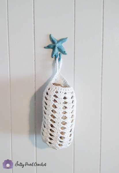 Stacked Shell Stitch Plastic Bag Holder Free Stashbuster Crochet