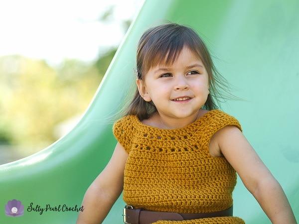 My sweet daughter Vanessa wearing her Dandelion Tunic Dress.