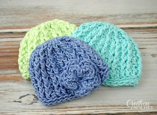 0-3 Month Crochet Hat Size