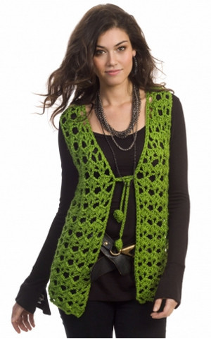 Hippy Holidays Vest - - part of a boho crochet vest pattern collection curated by SaltyPearlCrochet.com.