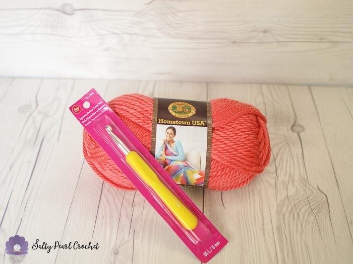 Giveaway prize: Lion Brand Hometown USA Yarn and Boye Ergonomic L/8 Crochet Hook