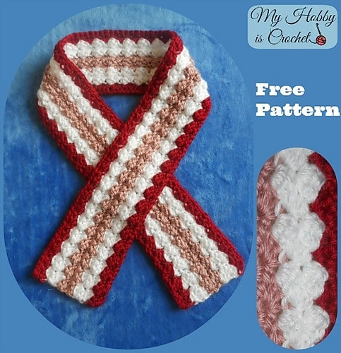 Crochet Scarf Valentine - Free Valentine Crochet Pattern Collection compiled by Salty Pearl Crochet