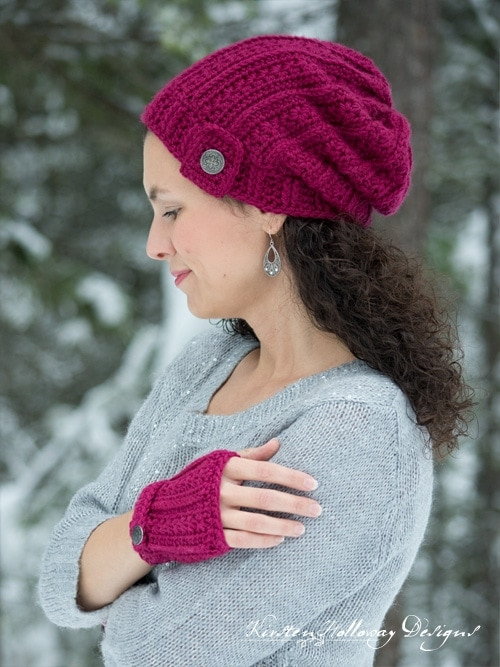 Heartstrings Slouch Hat - Free Valentine Crochet Pattern Collection compiled by Salty Pearl Crochet
