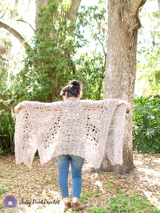 Quick Crochet Poncho Free Pattern The Chunky Clamshell Lace Poncho