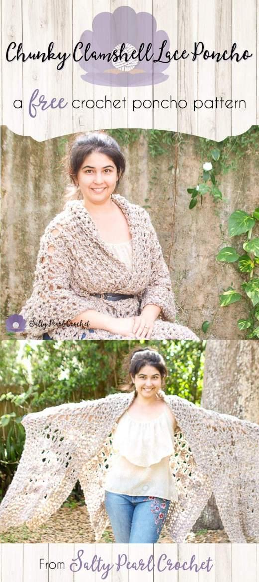 Crochet Ruana Pattern Archives Salty Pearl Crochet
