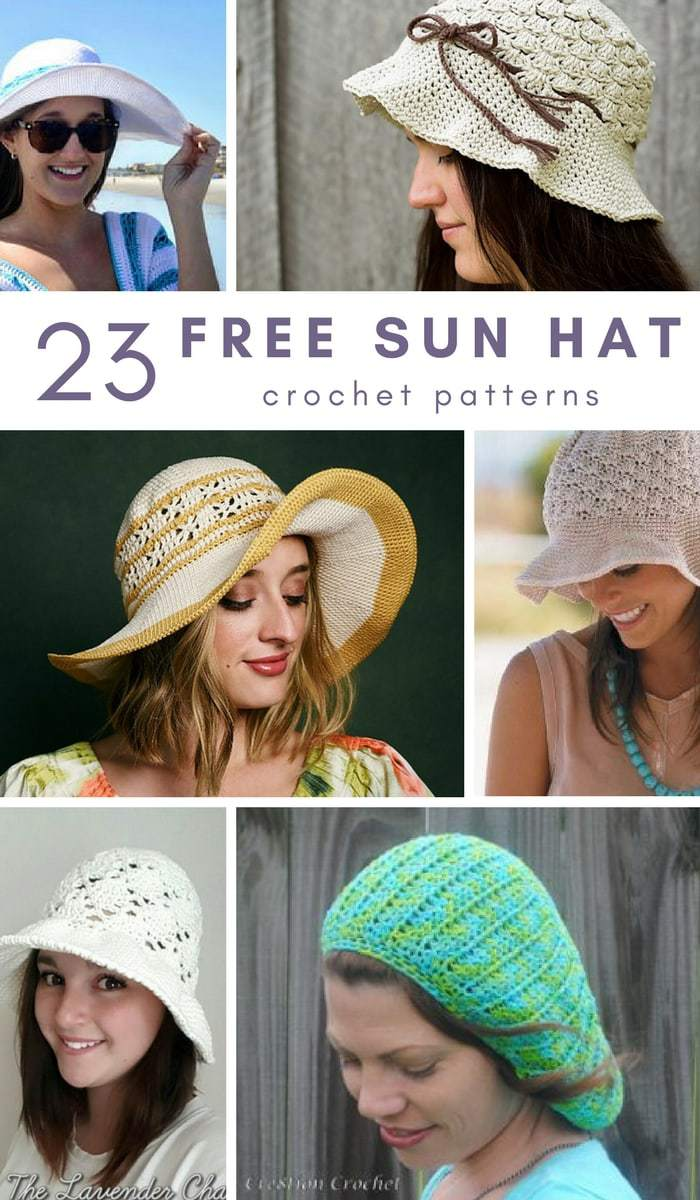 23 Free Sun Hat Crochet Patterns Salty Pearl Crochet