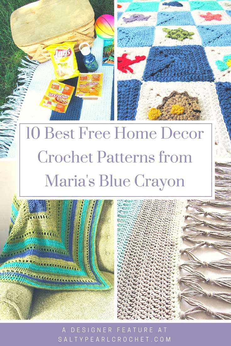 10 Free Home Decor Crochet Patterns From Mariau0027s Blue Crayon