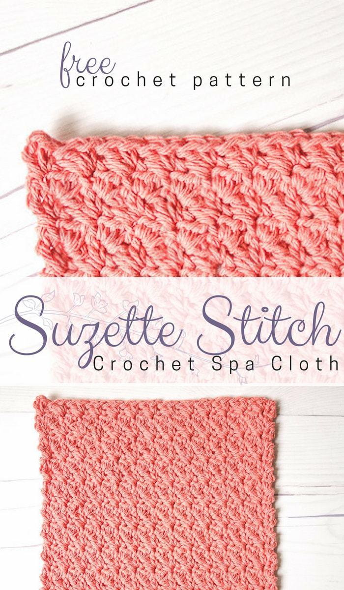 Suzette Stitch Spa Washcloth Crochet Pattern • Salty Pearl Crochet