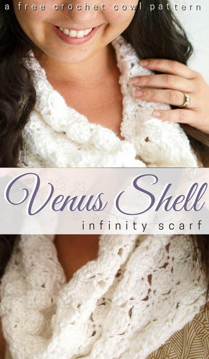 Venus Shell Infinity Scarf Crochet Pattern Salty Pearl Crochet