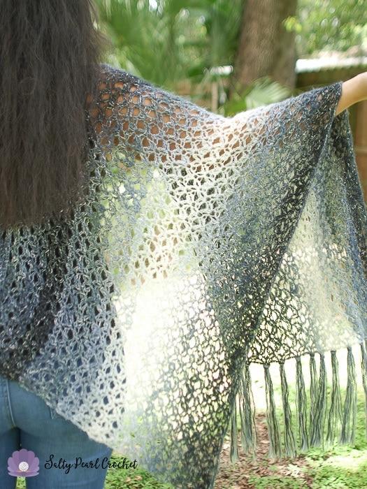 Diamond Lattice Crochet Kimono Pattern Free Salty Pearl Crochet