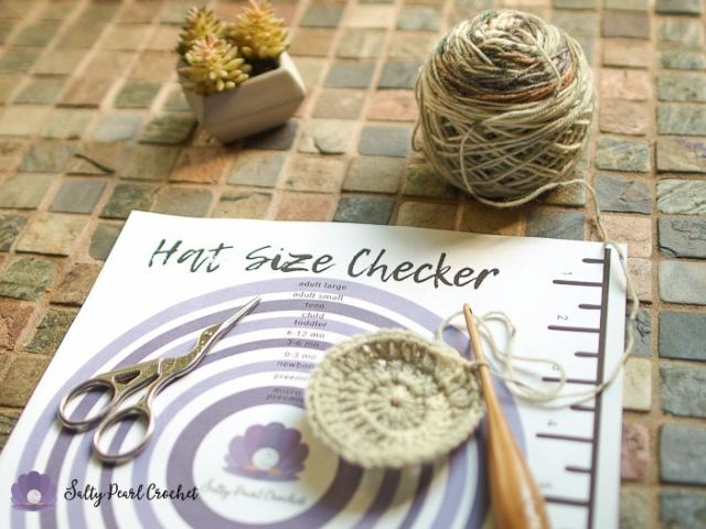 Printable Crochet Hat Size Checker • Salty Pearl Crochet
