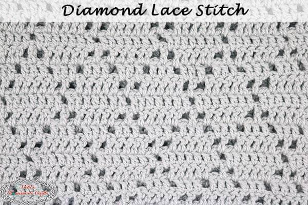 A crochet stitch that would make a pretty crochet afghan pattern