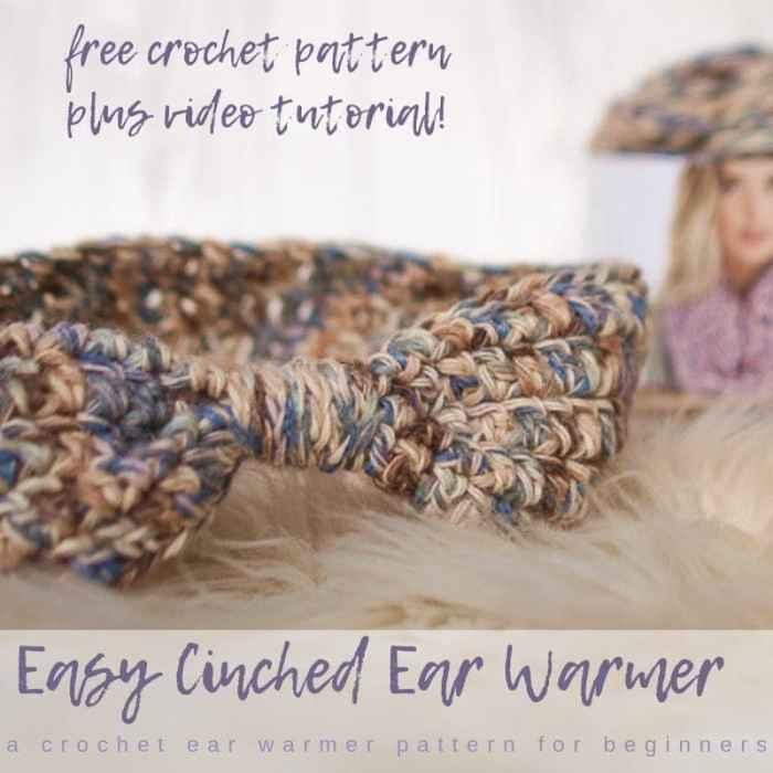 Cinched Crochet Ear Warmer Pattern And Size Chart Salty Pearl Crochet