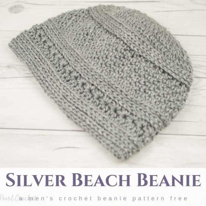 Mens Crochet Beanie Pattern Free Salty Pearl Crochet