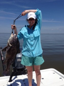 Showing off a Black Drum