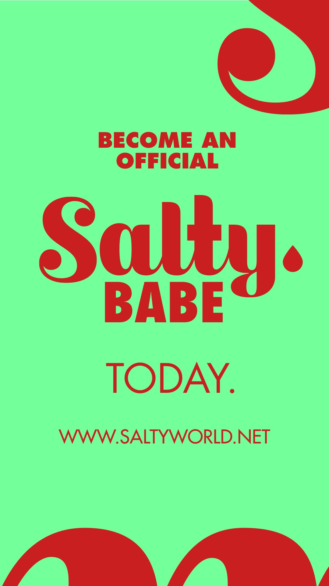 Become an Official Salty Babe Today. www.saltyworld.net