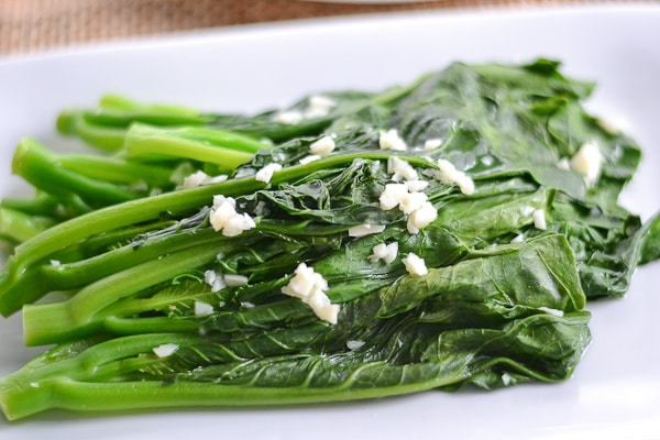 Chinese Broccoli with Minced Garlic (Gai Lan)