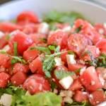 Tomato Watermelon Salad with Feta