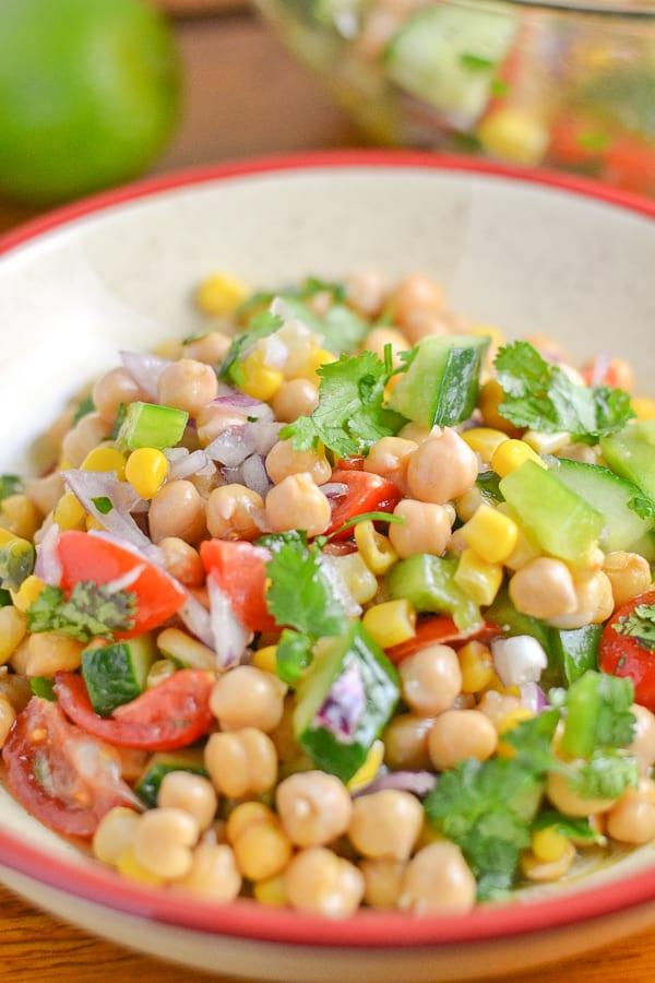 Corn and Chickpea Fiesta Salad - Salu Salo Recipes
