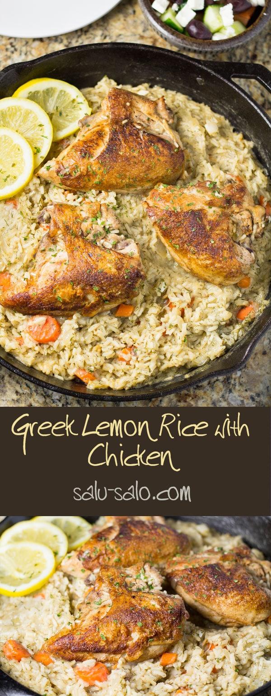Greek Lemon Rice with Chicken