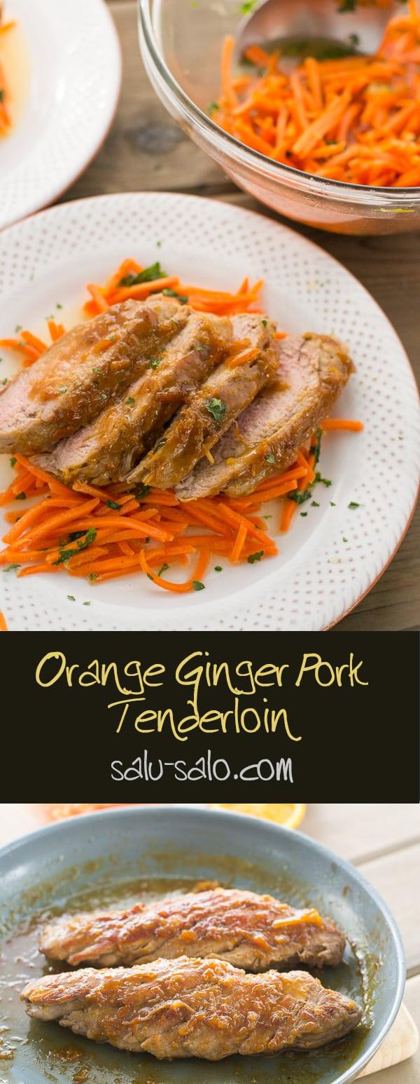 Orange Ginger Pork Tenderloin