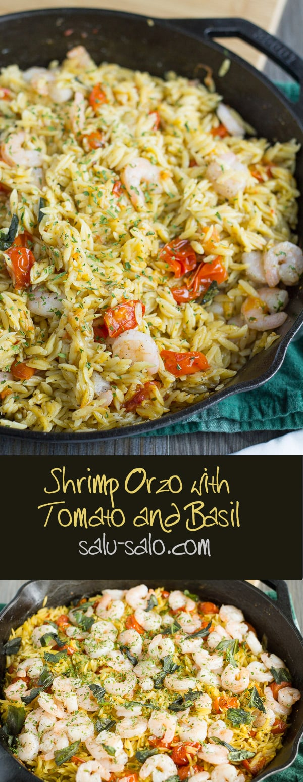 Shrimp Orzo with Tomato and Basil