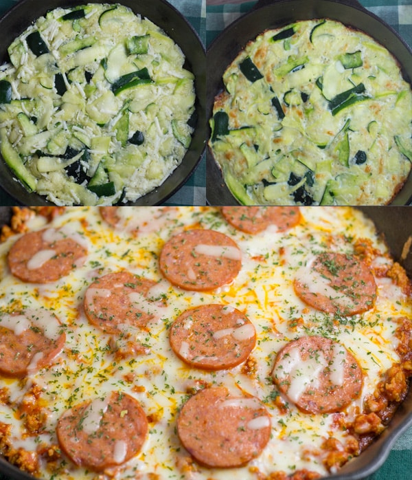 Low Carb Zucchini Crust Pizza