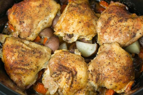 Slow Cooker Herb Chicken