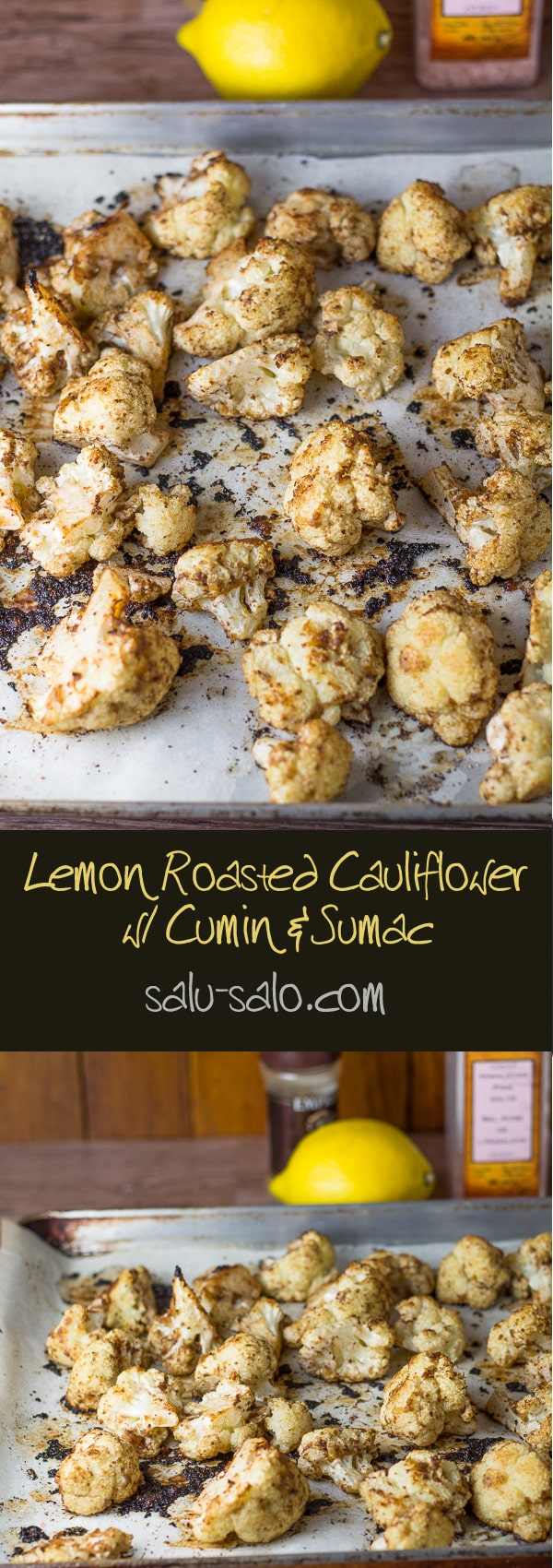 Lemon Roasted Cauliflower with Cumin and Sumac