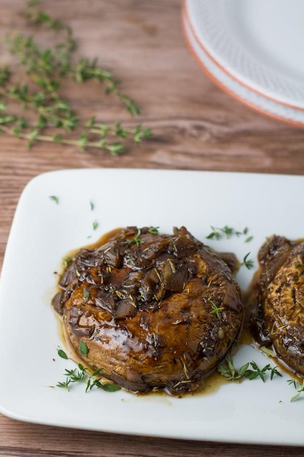 Portobello Mushroom in Balsamic Sauce