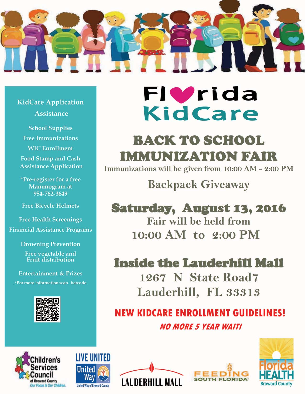 Florida KidCare Back to School Immunization Fair