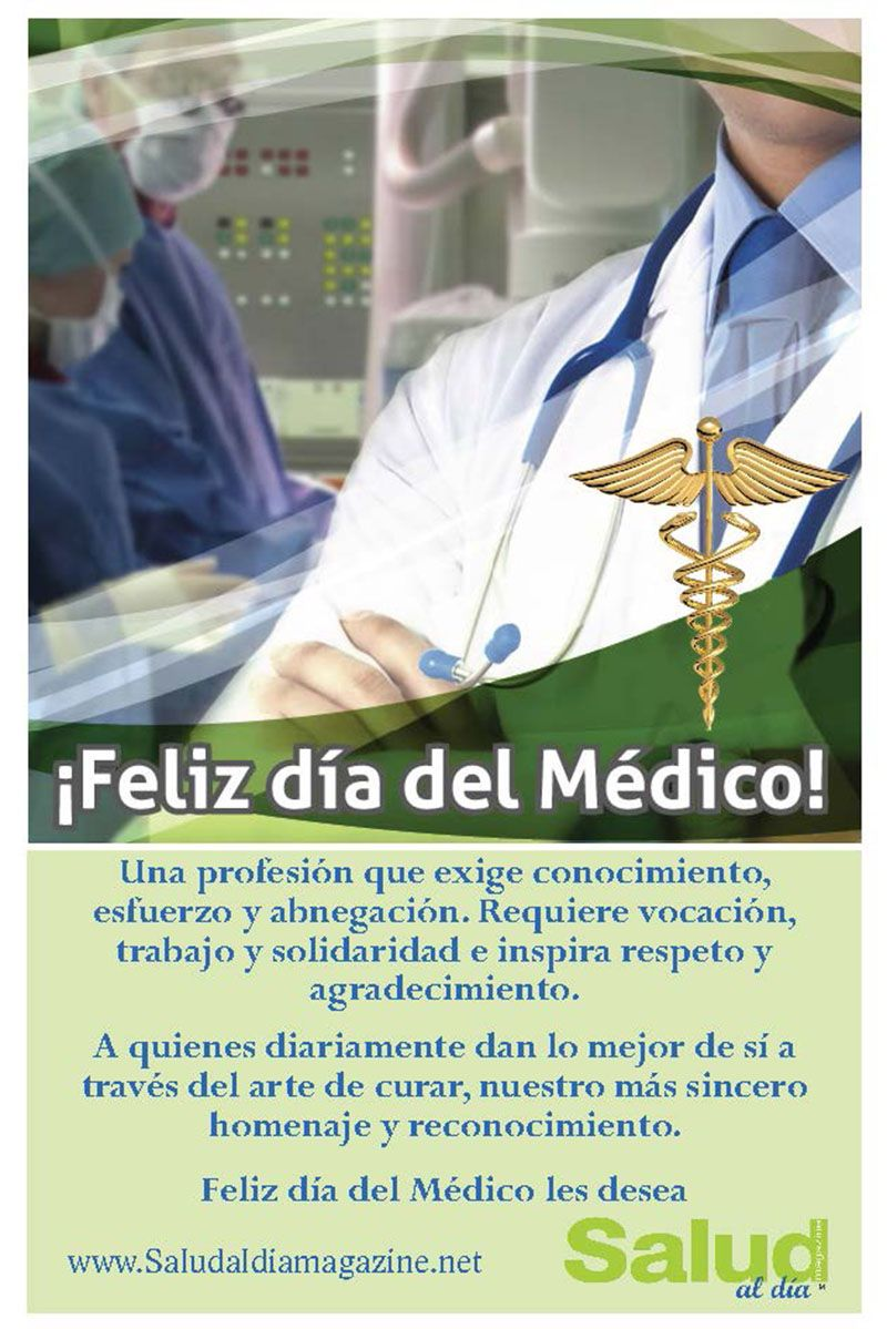 Feliz Día Nacional del Médico