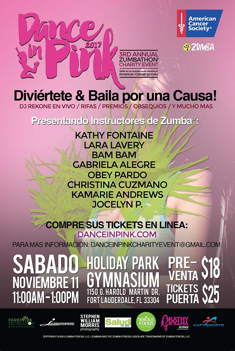 Dance in Pink 2017 3rd Annual Zumbathon Charity Event