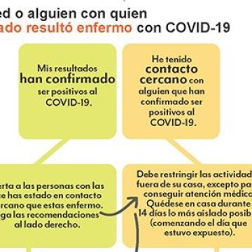 Si usted o alguien con quien ha estado resultó enfermo con Covid-19