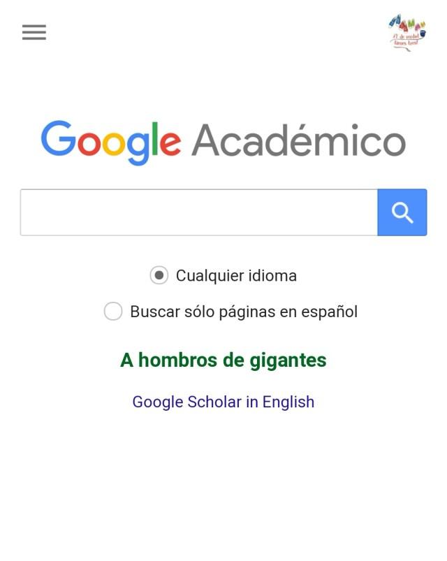 Google académico. información fiable salud
