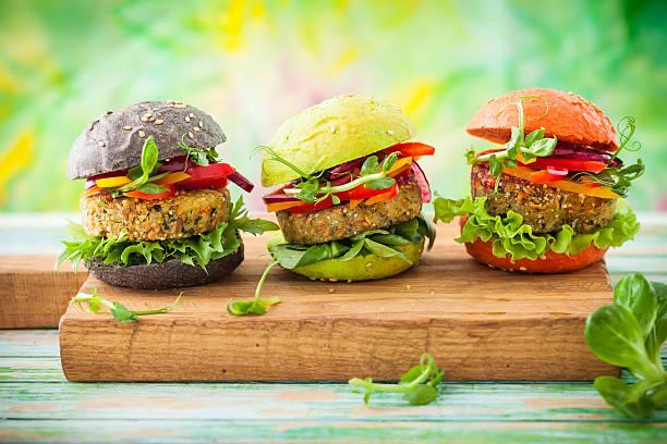 hamburguesas hechas con quinoa