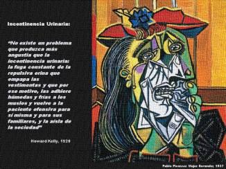 Incontinencia Urinaria y Pablo Picasso Mujer llorando